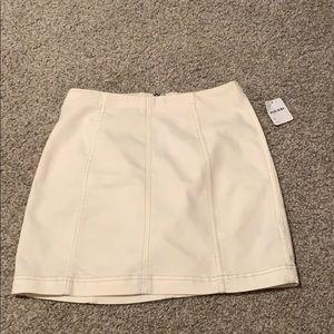 Modern femme denim mini white jean skirt